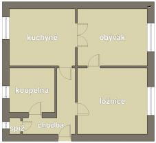Prodej, byt 2+1, Milevsko, ul. Karla Čapka
