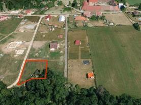 Prodej, stavební parcela, 650 m2, Bechyně