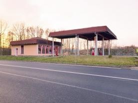 pohled ze silnice (Prodej, čerpací stanice, Chřibská), foto 3/8