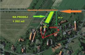 Prodej, stavební pozemek, 1202 m2, Starojická Lhota