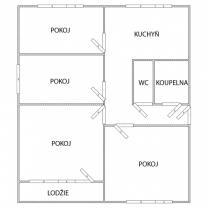 (Prodej, byt 4+1, 76 m2, DV, Chomutov, ul. Kamenný vrch), foto 4/18