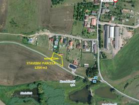 Prodej, stavební pozemek, 1254 m2, Dobev, Oldřichov