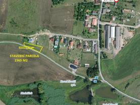 Prodej, stavební pozemek, 1565 m2, Dobev, Oldřichov