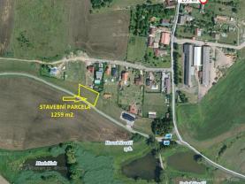 Prodej, stavební pozemek, 1259 m2, Dobev, Oldřichov