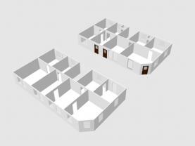 3D pohled na členění domu přízemí a první patro (Prodej, rodinný dům, 361 m2, Židenice), foto 2/5