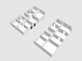 3D pohled na členění domu přízemí a první patro (Prodej, rodinný dům, 361 m2, Židenice), foto 3/5