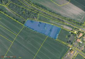Prodej, stavební pozemek, 4146 m2, Libkovice pod Řípem