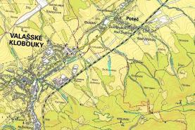 mapka (Prodej, louka, 883 m2, Valašské Klobouky)