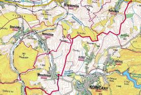mapka (Prodej, louka, 1450 m2, Mouchnice)