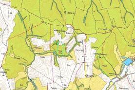 mapka (Prodej. louka, 5431 m2, Lhotka u Hradčovic)