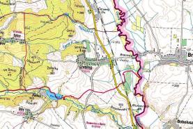 mapka (Prodej, les, 6063 m2, Úvalno)