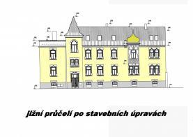 jižní průčelí projekt stavebních úprav (Prodej, nájemní dům, 1252 m 2, Litoměřice, Rybáře), foto 4/37