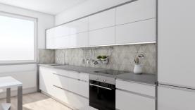 Vizualizace - kuchyně (Prodej, byt 3+1, 85 m², OV, Praha 7)