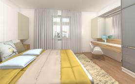 Vizualizace - ložnice (Prodej, byt 3+1, 85 m², OV, Praha 7)