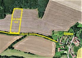 Prodej, pole, 12210 m², Miličín - Žibkov
