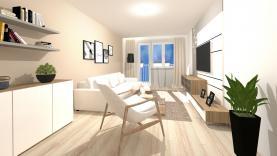 vizualizace - obývací pokoj (Prodej, byt 4+1,102 m2, OV, Měšice u Prahy), foto 2/13