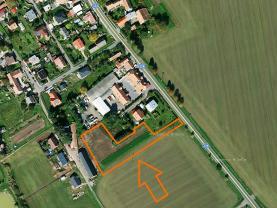 Prodej, stavební pozemek, 4391 m2, Medlešice