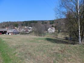 Pohled na pozemek (Prodej, stavební parcela, 2105 m2, Huť, Pěnčín), foto 4/8