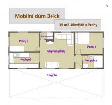 Prodej, mobilní dům bez pozemku 3+KK , 39 m2, Jíloviště (Prodej, mobilní dům 3+kk, 39 m2, Jíloviště), foto 2/10
