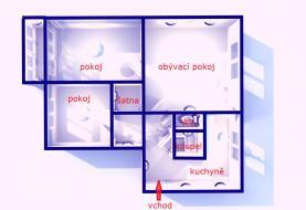 půdorys (Prodej, byt 3+1, 68 m2, Olomouc, ul.Dlouhá), foto 3/13