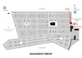 Prodej, rodinná hrobka 6 m2, Praha 5, Malvazinecký hřbitov (Prodej, rodinná hrobka 6 m2, Praha 5, Malvazinecký hřbitov), foto 4/5