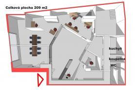 Pronájem, kanceláře, 209 m2, Praha 4, Jeremenkova (Pronájem, obchodní prostory, 209 m², Praha, ul. Jeremenkova), foto 4/23