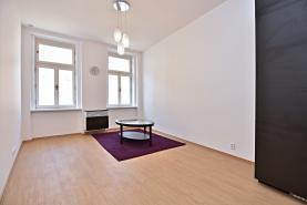 Obývací pokoj (Pronájem, byt 1+1, Praha, ul. Letohradská), foto 4/10