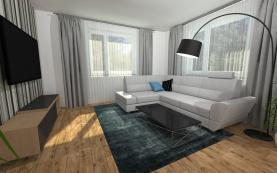 vizualizace obývací pokoj (Prodej, rodinný dům, Liberec, ul. Za Tratí), foto 2/21