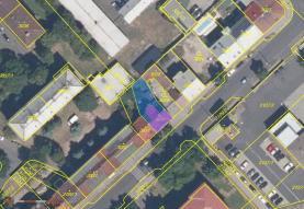 Katastrální mapa (Pronájem, byt 2+1, 60 m2, Chomutov, ul. Beethovenova), foto 2/6