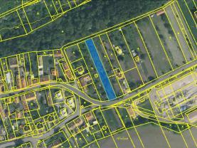 Katastrální mapa pozemku (Building lot, 1727 m2, Louny, Peruc)