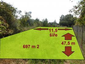 Prodej, zahrada, 697 m2, Měrovice nad Hanou