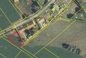 Prodej, pozemek vhodný k výstavbě, 567 m2, Chrtníč