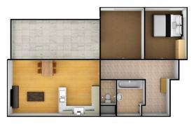 3D půdorys (Flat 3+kk for rent, 102 m2, Praha 9, Praha, Federova)