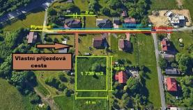 Prodej, stavební pozemek, 1735 m2, Petřvald, ul. K Trati