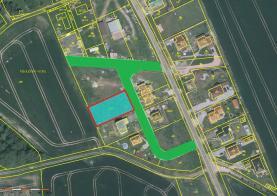 Prodej, stavební pozemek, 1004 m2, Plzeň - Dolní Vlkýš