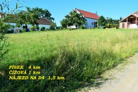 Prodej, stavební pozemek, 801 m2, Čížová, Krašovice