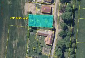 Prodej, pozemek určený k výstavbě, 805 m2, Králova Lhota