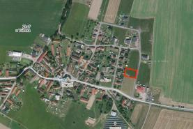 Prodej, stavební pozemek, 975 m2, Zhoř u Tábora