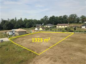 Building lot, 1323 m2, Benešov