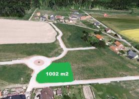 Prodej, stavební parcela 1002 m2, Kozmice-Benešov