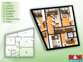 (Flat 4+1, 97 m2, Ostrava-město, Ostrava, Výškovická)
