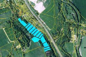 mapka (Meadow, 2500 m2, Liberec, Jeřmanice)