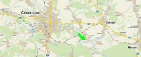 mapa (Building lot, 49012 m2, Česká Lípa)