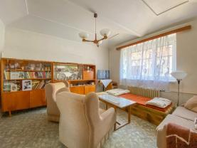 Obývací pokoj (Prodej, chalupa, 129 m², Bohušovice nad Ohří, ul. Tyršova), foto 4/15