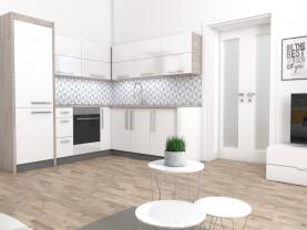 Kuchyně a obývací pokoj (Prodej, byt 2+kk, 59 m², Doksany), foto 3/9