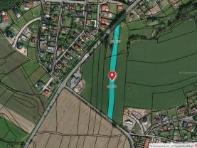 Mapa letecká.jpeg (Prodej pozemků, 4613 m2, Tábor - Horky), foto 4/6