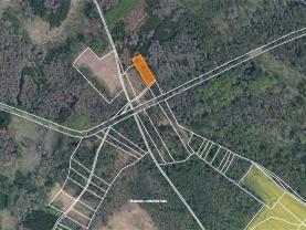 Prodej lesa, 1396 m², Račice u Hrotovic