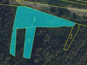 Prodej lesa, 4682 m², Pobučí