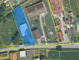 mapka Ctiboř (Prodej, stavební pozemek, 545 m2, Ctiboř), foto 4/7