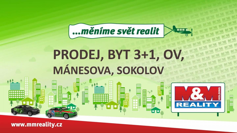 Prodej, byt 3+1, Sokolov, ul. Mánesova